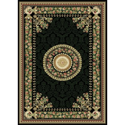 Bertie Black Area Rug Rug Size: Rectangle 37 x 52