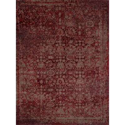 Aurora Red/Taupe Area Rug