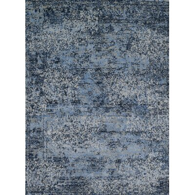 Aurora Light Blue/Gray Indoor Area Rug Rug Size: 53 x 77