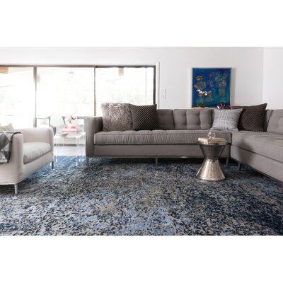 Klahn Gray/Navy Area Rug Rug Size: Rectangle 92 x 127