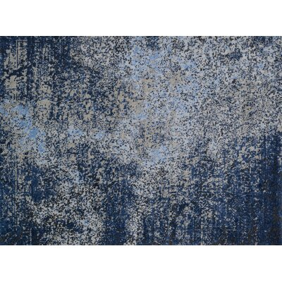 Klahn Gray/Navy Area Rug Rug Size: Rectangle 77 x 106