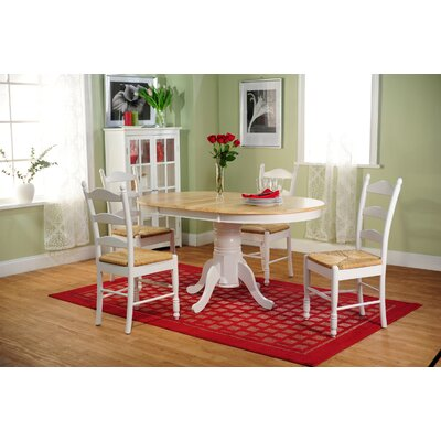 Esperanza 5 Piece Dining Set Finish: White and Natural