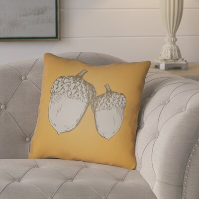 Adrian Indoor/Outdoor Throw Pillow Size: 18 H x 18 W x 4 D, Color: Orange/Gray