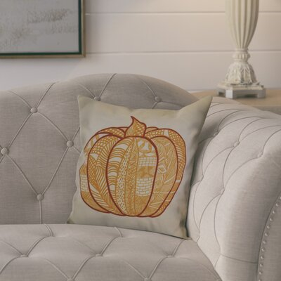 Ames Pumpkin Patch Geometric Outdoor Throw Pillow Size: 18 H x 18 W x 2 D, Color: Gold
