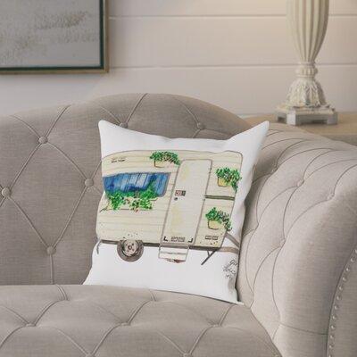 Gina Maher Cambridge Caravan Throw Pillow Size: 18 H x 18 W x 2 D