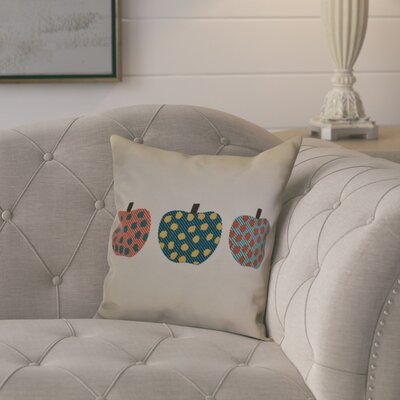 Ames 3 Little Pumpkins Geometric Throw Pillow Size: 18 H x 18 W x 2 D, Color: Teal