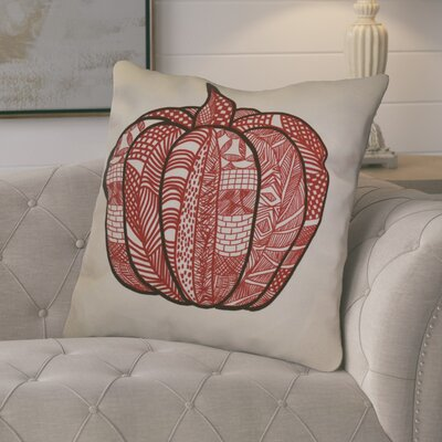 Ames Pumpkin Patch Geometric Euro Pillow Color: Red