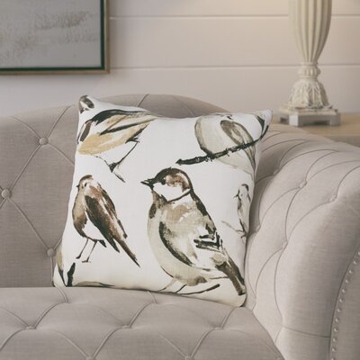 Birdwatcher Linen Throw Pillow