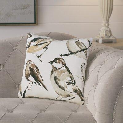 Birdwatcher Linen Throw Pillow