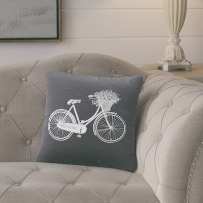 Superior Bike Cotton Throw Pillow Color: Gunmetal Grey