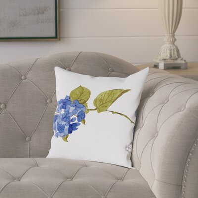 Gina Maher West Point Hydrangea Throw Pillow Size: 16 H x 16 W x 2 D