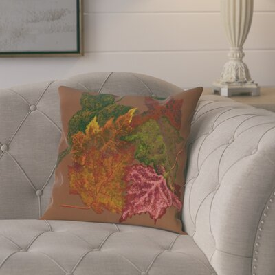 Tremblant Autumn Leaves Flower Print  OutdoorThrow Pillow Size: 18 H x 18 W, Color: Brown