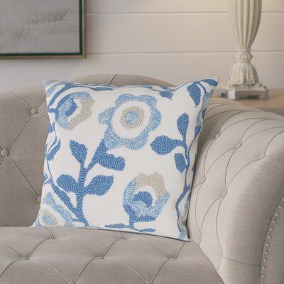 Garnett Floral Indoor Outdoor Decorative Polypropelene Throw Pillow Color: Marine