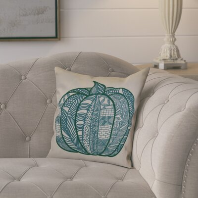 Ames Pumpkin Patch Geometric Throw Pillow Color: Teal, Size: 20 H x 20 W x 2 D