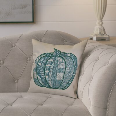 Ames Pumpkin Patch Geometric Outdoor Throw Pillow Size: 18 H x 18 W x 2 D, Color: Teal