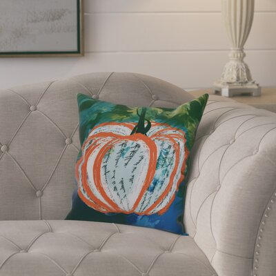 Ames Artistic Pumpkin Geometric Throw Pillow Size: 16 H x 16 W x 2 D, Color: Orange