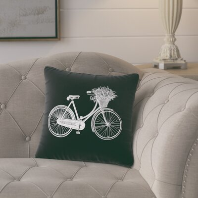 Superior Bike Cotton Throw Pillow Color: Black / White