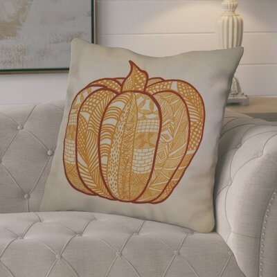 Ames Pumpkin Patch Geometric Euro Pillow Color: Gold