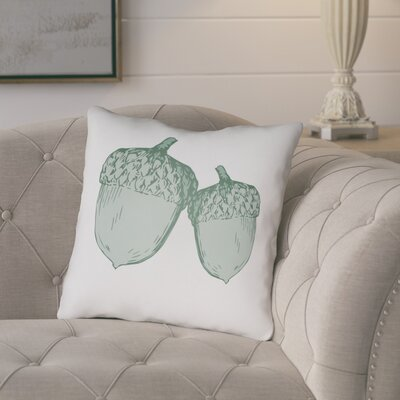 Adrian Indoor/Outdoor Throw Pillow Size: 18 H x 18 W x 4 D, Color: White/Green