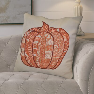 Ames Pumpkin Patch Geometric Euro Pillow Color: Orange