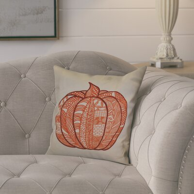 Ames Pumpkin Patch Geometric Outdoor Throw Pillow Size: 16 H x 16 W x 2 D, Color: Orange