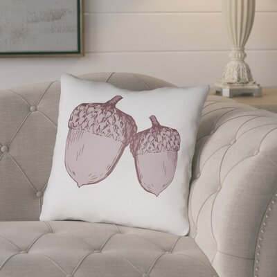 Adrian Indoor/Outdoor Throw Pillow Size: 18 H x 18 W x 4 D, Color: White/Purple