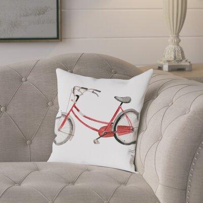 Gina Maher Hephzibah Bicycle Throw Pillow Size: 20 H x 20 W x 2 D