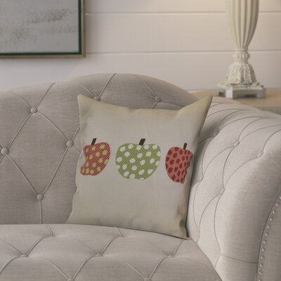 Ames 3 Little Pumpkins Geometric Throw Pillow Size: 16 H x 16 W x 2 D, Color: Green