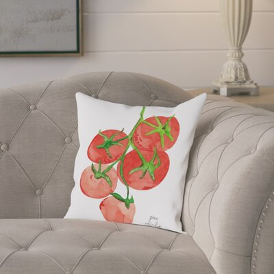 Gina Maher Canton Tomatoes Throw Pillow Size: 18 H x 18 W x 2 D