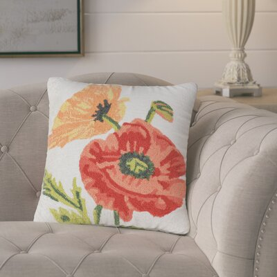 Ismay Poppies Indoor/Outdoor Throw Pillow