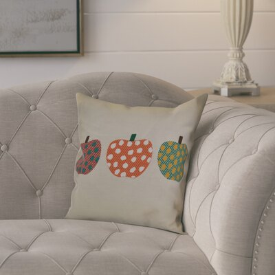 Ames 3 Little Pumpkins Geometric Outdoor Throw Pillow Size: 16 H x 16 W x 2 D, Color: Orange