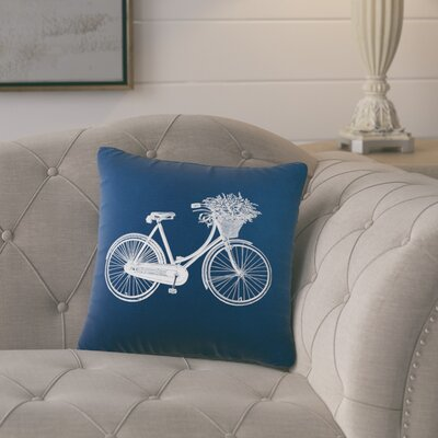 Superior Bike Cotton Throw Pillow Color: Navy