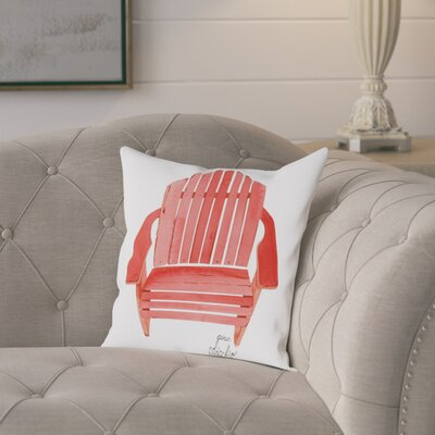 Gina Maher Leary Adirondack Chair Throw Pillow Size: 18 H x 18 W x 2 D