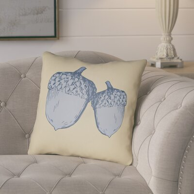 Adrian Indoor/Outdoor Throw Pillow Size: 18 H x 18 W x 4 D, Color: Yellow/Gray