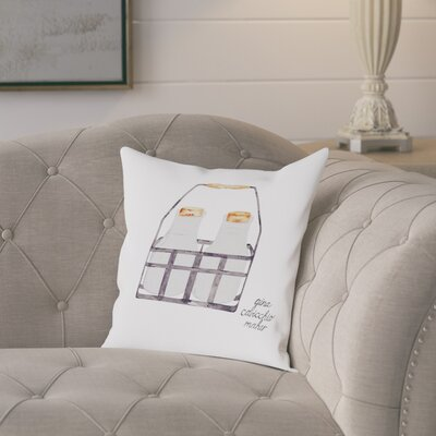 Gina Maher Newdale Milk Bottles Throw Pillow Size: 18 H x 18 W x 2 D