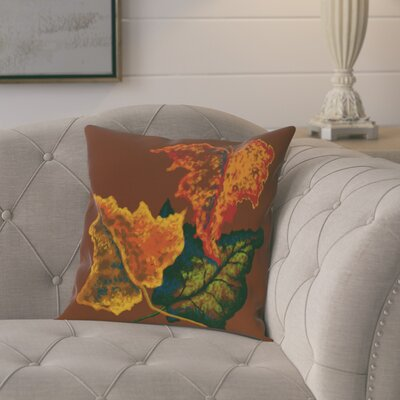 Tremblant Autumn Colors Flower Print Throw Pillow Size: 20 H x 20 W, Color: Teal