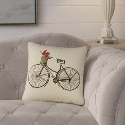 Superior Bike Burlap Throw Pillow
