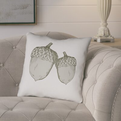 Adrian Indoor/Outdoor Throw Pillow Size: 20 H x 20 W x 4 D, Color: White/Gray