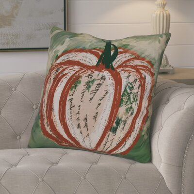 Ames Artistic Pumpkin Geometric Euro Pillow Color: Dark Orange