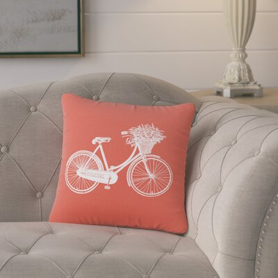 Superior Bike Cotton Throw Pillow Color: Cayenne