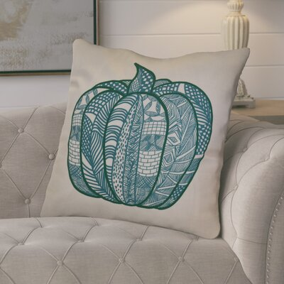 Ames Pumpkin Patch Geometric Euro Pillow Color: Teal