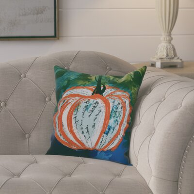 Ames Artistic Pumpkin Outdoor Throw Pillow Size: 20 H x 20 W x 2 D, Color: Orange