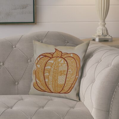 Ames Pumpkin Patch Geometric Throw Pillow Size: 18 H x 18 W x 2 D, Color: Gold