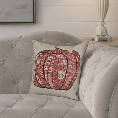 Ames Pumpkin Patch Geometric Throw Pillow Size: 18 H x 18 W x 2 D, Color: Red