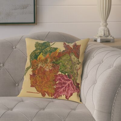 Tremblant Autumn Leaves Flower Print  OutdoorThrow Pillow Size: 20 H x 20 W, Color: Gold