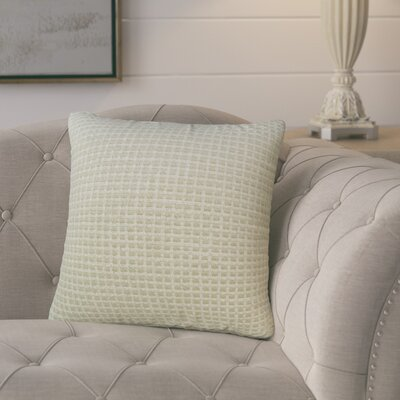Protege Grid Linen Throw Pillow Size: 18, Color: Sprout Green