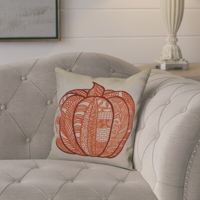 Ames Pumpkin Patch Geometric Throw Pillow Size: 18 H x 18 W x 2 D, Color: Orange