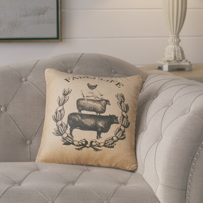 Plummer Farm Life Burlap Throw Pillow