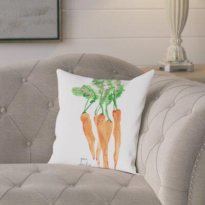 Gina Maher Elna Carrots Throw Pillow Size: 16 H x 16 W x 2 D