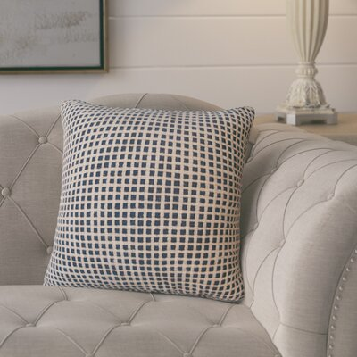Protege Grid Linen Throw Pillow